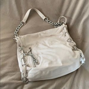 Michael Kors off-white leather shoulder bag